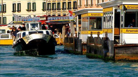 a vaporetto water bus in venice on the way to the lido dead in venice italy. Black Bedroom Furniture Sets. Home Design Ideas