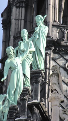 A detail from Notre Dame ... or perhaps the latest Parisienne boy band?