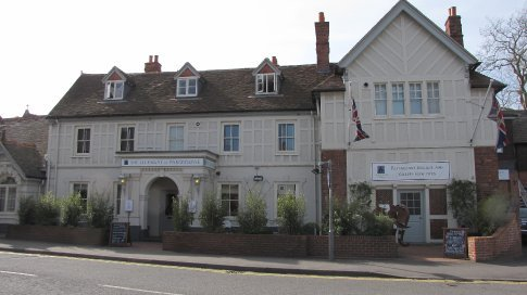 The Elephant, Pangbourne. We had a few beers and lunch here. Really good fish and chips!