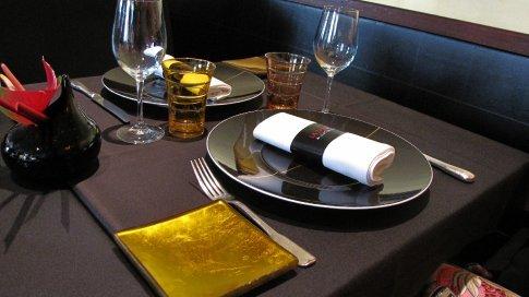 General views of Robuchon's La Table in Paris...
