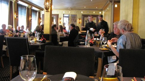 Aagain, the table and the room at Robuchon's La Table.