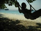 Kel's having a swinging time on the beach at Honeymoon Bay.: by kelly, Views[250]