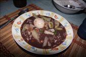Negro frijoles sopa con huervo y arroz: by kendal00, Views[403]