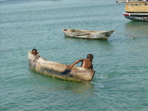 children at Wasini Island