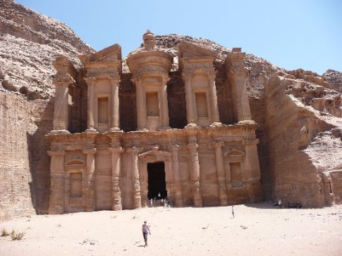 monastery at petra - was a big hike getting up there in the heat