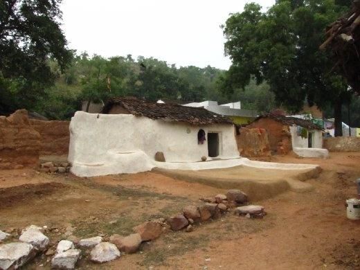 mud hut in the village