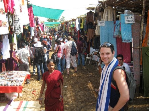 the weekly markets at anjuna close to where we were staying