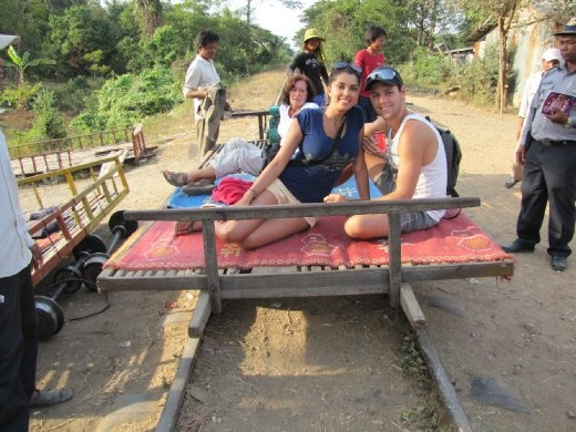 our bamboo train ride