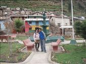 Marco and I in the Plaza of Cuchumballa.  One of the few moments with out rain.: by kim-bloomfield, Views[426]