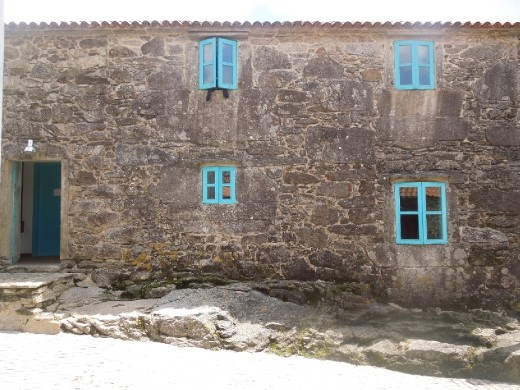 The albergue at Olveiroa...this is where the majority of the beds are located