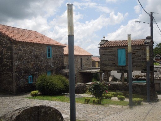 and a few more beds are located in these other buildings. A really cool set up for an albergue!