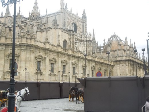 The Cathedral in Seville. For those of us walking the Via de la Plata, this is the starting point of the Camino.