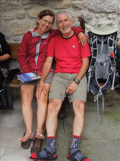 Day 15 at Pendueles: Pedro and Suzanne from Montreal
