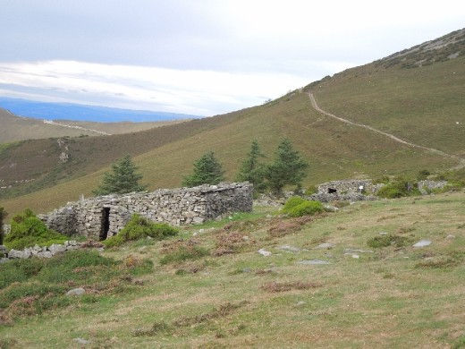 An ancient hospital for pilgrims in the mountains.