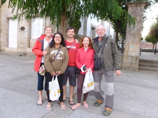 The pilgrims of the Interior Way: Me (Canada!), Carolina, Nelson, Vera (Portugal) & Fred (Denmark now living in Spain)