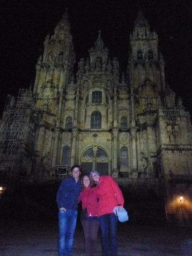 Day 38: In front of the Cathedral in Santiago de Compostela