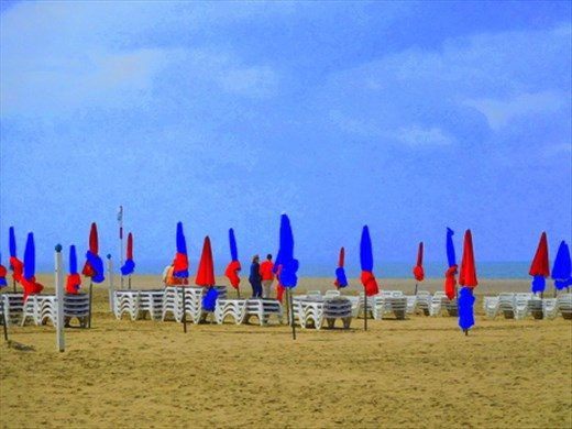 Umbrellas on Deauville Beach