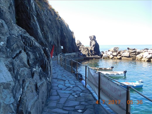 Walkway from boat to town