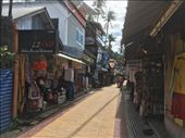 Street view on Koh Phi Phi.  This is where we took our laundry.  Three pounds is about $2.85. : by kirmily, Views[86]