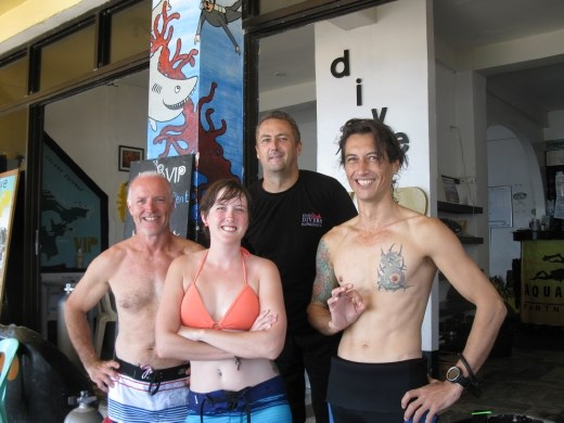 K & I with our Aussie instructors- great guys