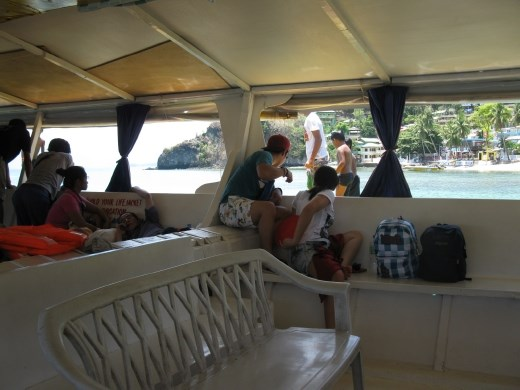kids diving off our ferry as we leave Sabang