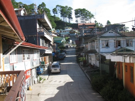 view off our balcony at Hostel in Sagada