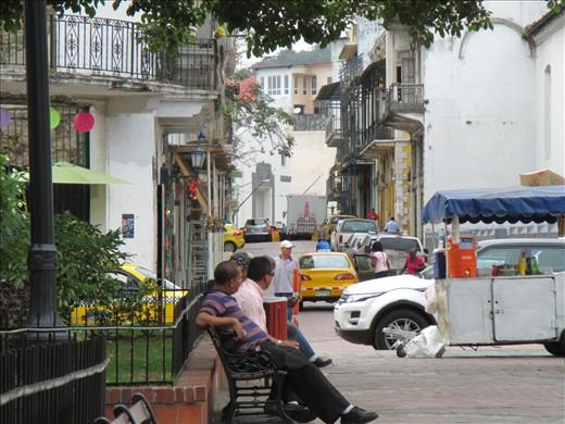 Casco viejo town square in Panama City