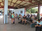 Arnold waiting for the bus to San Jose at Quepos: by kirstenvelthuis, Views[241]