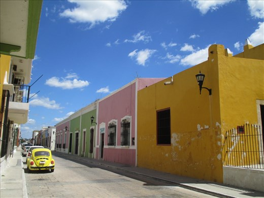 The restored colonial town of Campeche