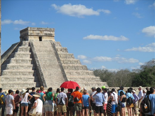 The hugely popular ruins at Chichen Itza