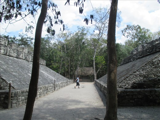 The ball court at the Coba ruins