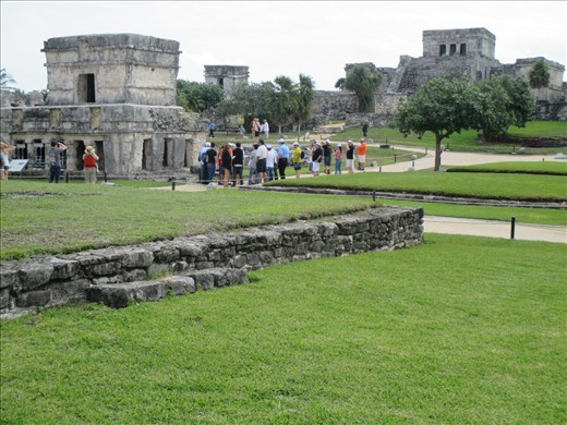 The neatly manicured site of Tulum