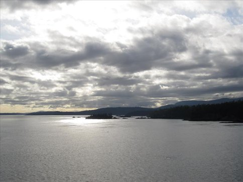 Islands seen from the Vancouver Island Ferry