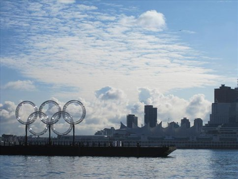 View of Olympic grounds (Seawall, Vancouver)