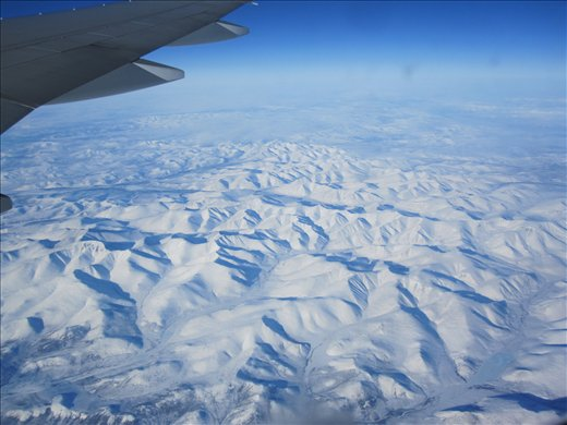 Flying over Russia... or Alaska