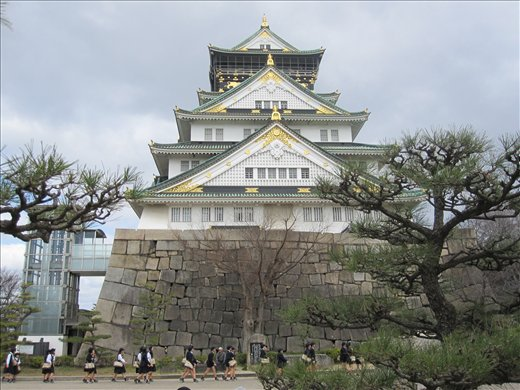 Osaka Castle. Pretty on the outside, the inside is a museum.