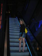 Nice legs!! I am ridin up the escalator to the movie theatre. It was lit up and fun looking! Not so fun in the pic.: by kiwi_kerry, Views[434]