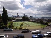 A view of the CBD in AUckland - you can see the Sky Tower from up here and a nice tennis court.: by kiwi_kerry, Views[240]