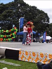 Two radio hosts on the stage introducing some entertainment on stage at the festival. The dancers (see next pix) were the most fun -- poetry readings, not so much.: by kiwi_kerry, Views[258]