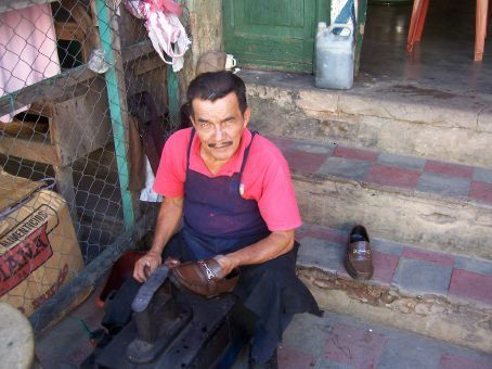 Local shoe shiner