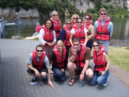 My group ready to go jetboating