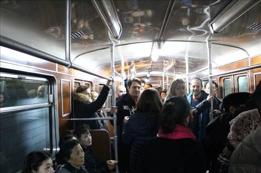 Jam-packed Pyongyang Metro