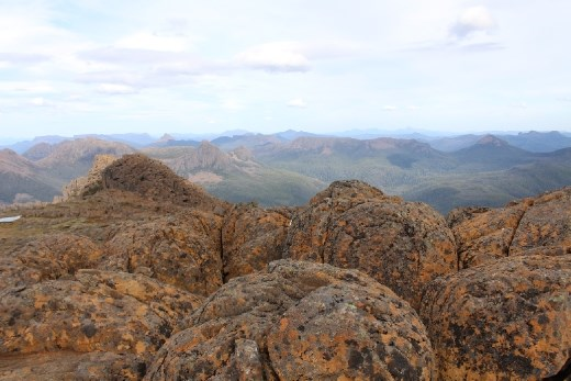 Speckled rocks on Mt. Ossa