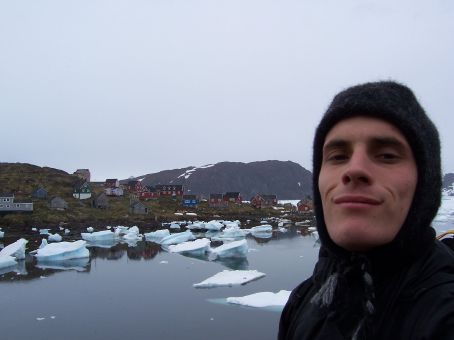 I just get so excited traveling to these remote places that I have to take a self-shot