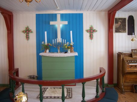 Inside Kulusuk's tiny church