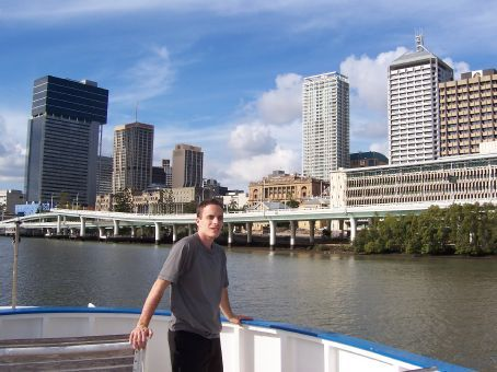 On the ferry crossing the Brisbane River