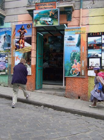 The adventure outfit where Philippe works, La Paz, Bolivia
