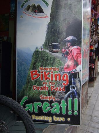 I wonder if they have children seats for the bikes?  La Paz, Bolivia