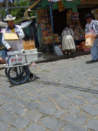 Ice cream, anyone?  La Paz, Bolivia