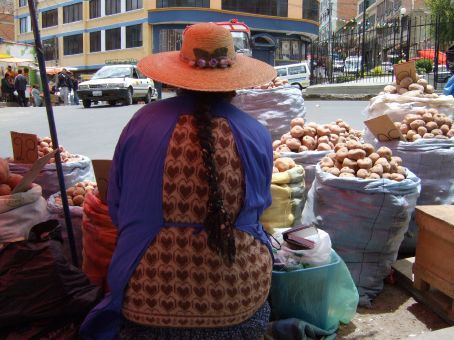 From her point of view, La Paz, Bolivia